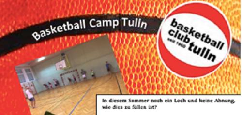 Basketballcamp im August 2020 in Tulln für Kinder und Jugendliche von 7 bis 16 Jahren!