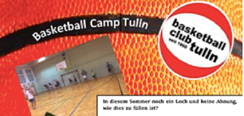 UPDATE: Sommercamp 2020 des Basketballclub Tulln!